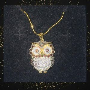 Gold Platted Owl Necklace